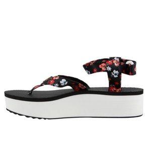 Teva Floral Platform ankle strap sandals 10